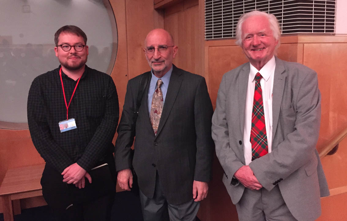 Daniel Lowe, Anton Shammas and Peter Clark at the end of the lecture